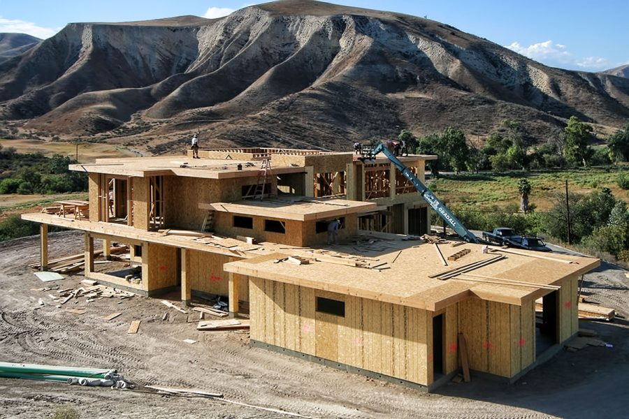 Modern Home in the Hills Progress Photos